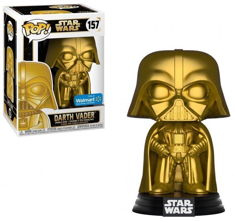 Фигурка Funko Pop! Star Wars - Darth Vader Gold Figure #157 Exclusive