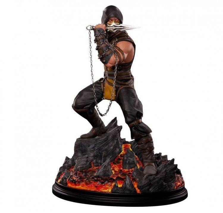 Mortal Kombat Scorpion Polystone Statue Sideshow - Статуэтка Скорпион 53 см