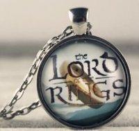 Медальон  LOTR The lord of the rings (металл + стекло)