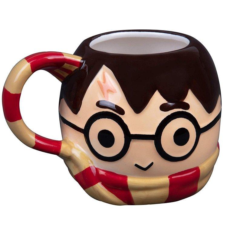 Кружка Harry Potter with Gryffindor Scarf 3D Sculpted Ceramic Mug 24 oz