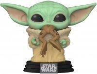 Фигурка Funko Pop Star Wars: Mandalorian - The Child Yoda with Frog Фанко Звёздные войны Йода