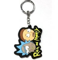 Брелок Рик и Морти Rick And Morty №6 Двухсторонний Объемный 3D брелок