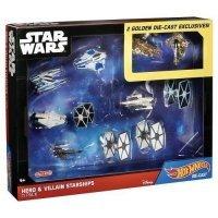 Набор фигурок - Star Wars Hot Wheels Hero & Villain Starships 11-Pack