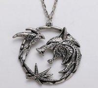 Медальон 3D Ведьмак (The Witcher) металл серый новый кулон Геральта из сериала #4