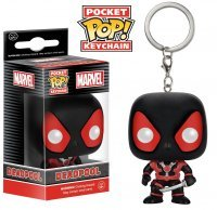 Брелок Marvel Black Suit Deadpool Pop! Vinyl