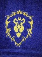 Полотенце со знаком Альянса (Alliance World of Warcraft Towel) 35 x 62 cm