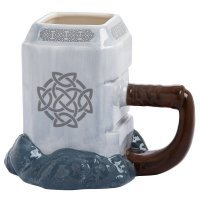 Чашка Thor Mjolnir Marvel 20 oz. Ceramic Sculpted Mug