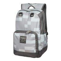 """Рюкзак Майнкрафт - Minecraft Creepy Creeper Kids Backpack (Grey, 18"""") School"""