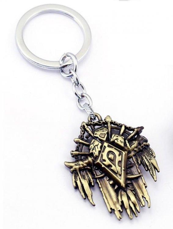 Брелок - World of Warcraft  Horde Metal Bronze