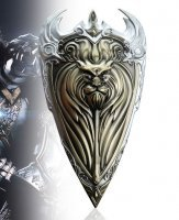 World of Warcraft Alliance Logo Golden Shield Metal