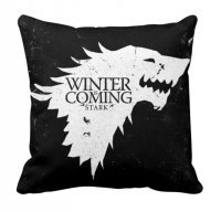"Наволочка Game of Thrones Stark Wolf ""Winter is Coming"" Black"