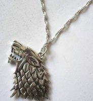 Медальон Game of Thrones black Stark Dire wolf
